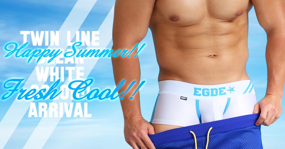 【EGDE】青みがかったホワイトで爽やかさがすごい!みんなが好きな感じのボクサーパンツです!